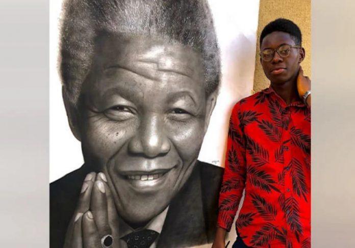 Jovem da Nigéria ajuda família com pinturas hiper-realistas.